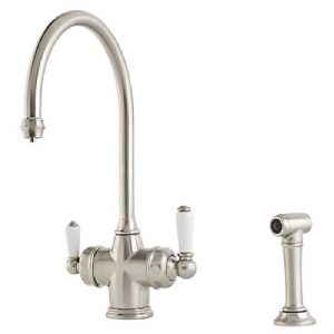 1737 Perrin & Rowe Polaris 3-In-1 Instant Hot Water Kitchen Mixer Tap and Rinse